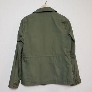 J. Crew Factory Jackets & Coats - J. Crew Factory Olive Green Ripstop Utility Jacket